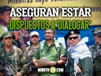 Disidentes de Farc estarian dispuestos a dialogar