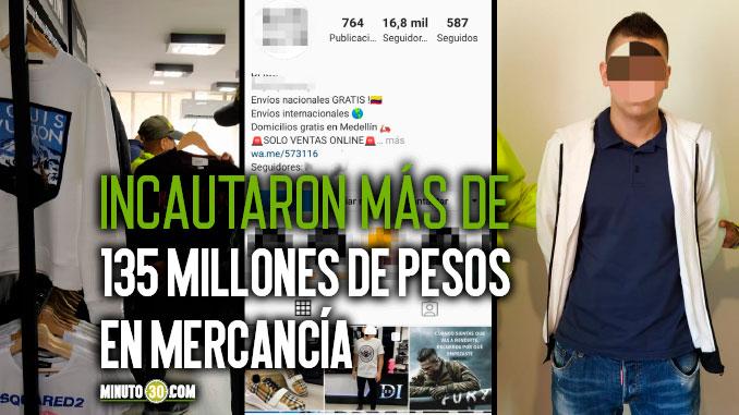 En Envigado incautaron mercancia chiviada y de contrabando que vendian por redes sociales