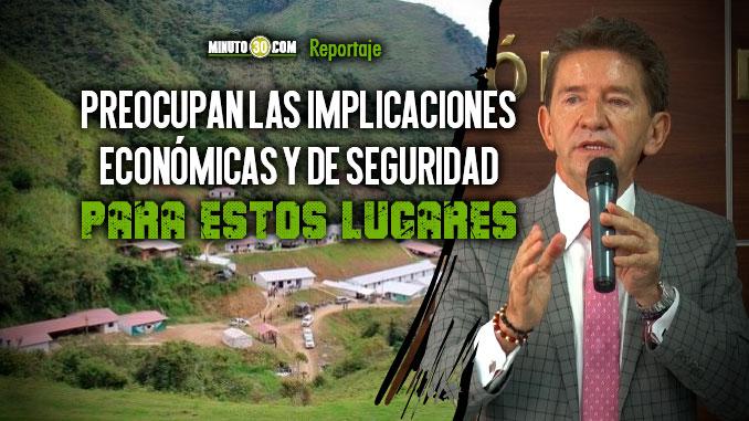 Gobernacion de Antioquia no esta de acuerdo con que los espacios de exFarc se conviertan en veredas