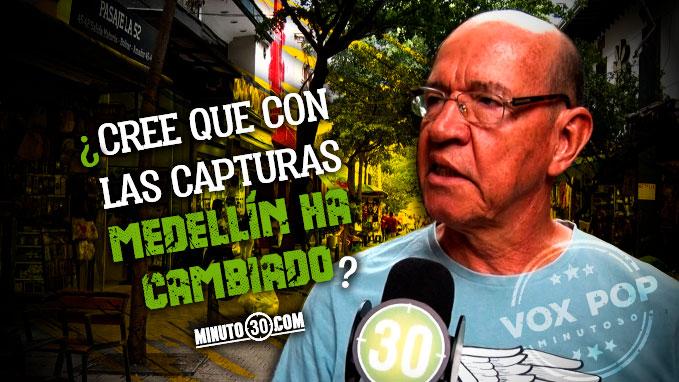 Van 145 cabecillas capturados en Medellin Como siente la gente la seguridad en la ciudad