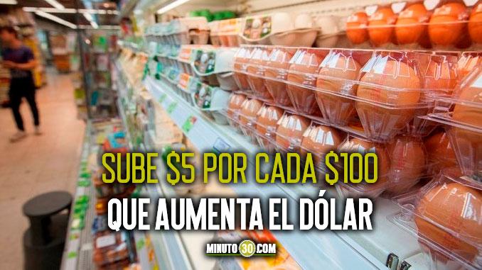 sube precio de los huevos en Colombia