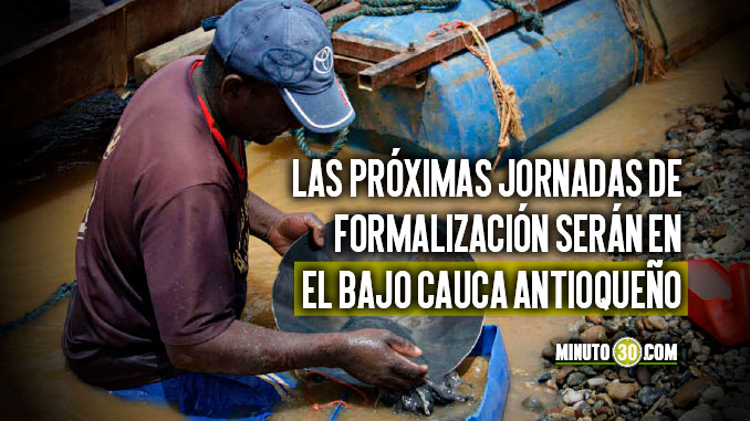 3.600 pequenos mineros de Antioquia se han formalizado
