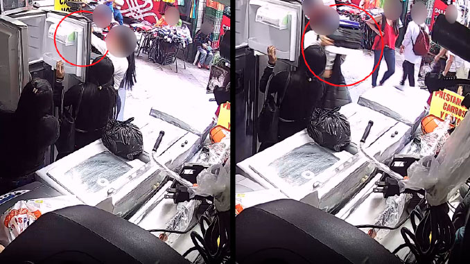 As%C3%AD robaron estas mujeres en una compraventa del centro de Medellin
