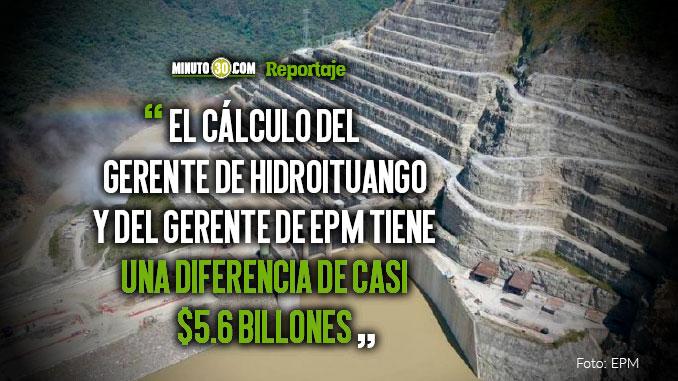 Aun no se conoce con exactitud el costo final de Hidroituango