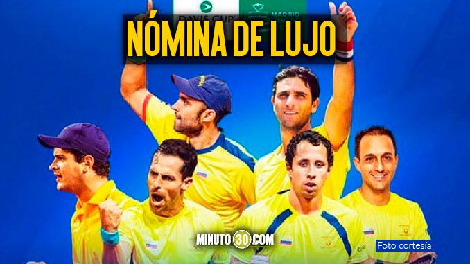 Colombia definio el equipo para la final de Copa Davis