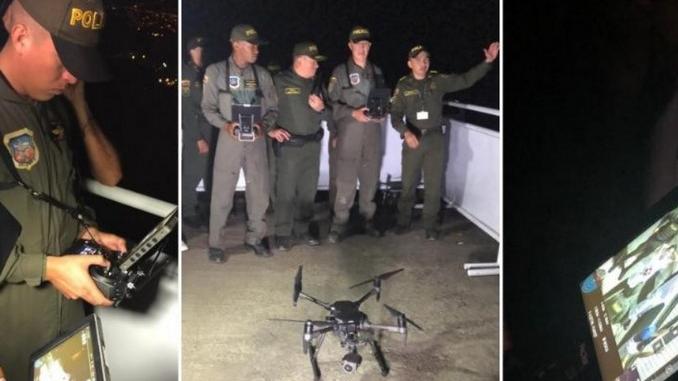 Drones de la Policia en Medellin