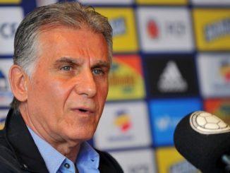 El entrenador de la Seleccion Colombia Carlos Queiroz en rueda de prensa