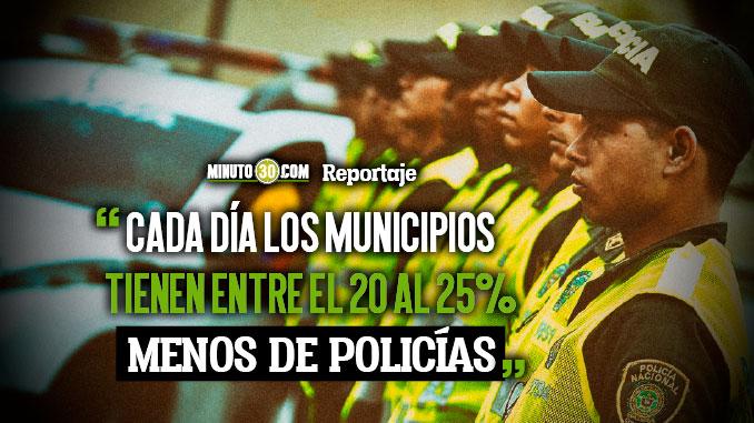 Gobernador pide al Gobierno Nacional solucionar deficit de policias en Antioquia