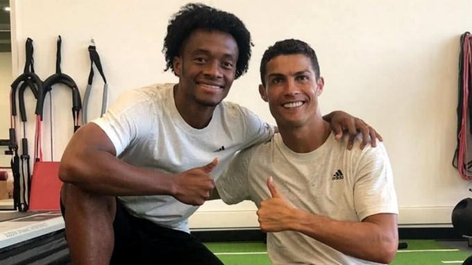 Juan Guillermo Cuadro y Cristiano Ronaldo