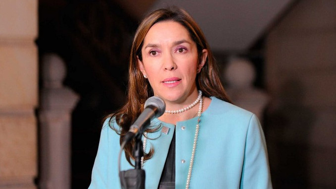 La ministra Maria Fernanda Suarez