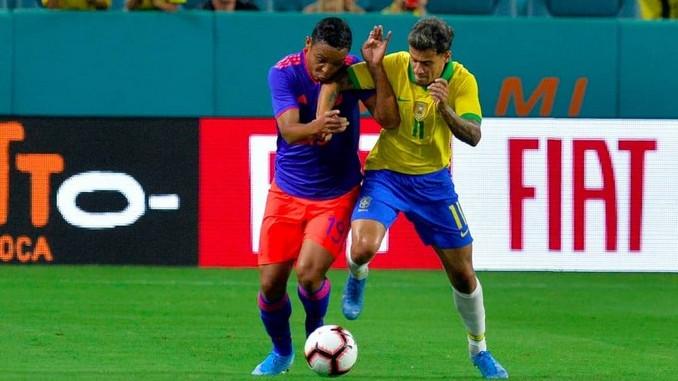 Luis Fernando Muriel contra Brasil amistoso internacional