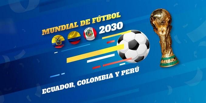 Mundial futbol ecuador colombia peru 2030