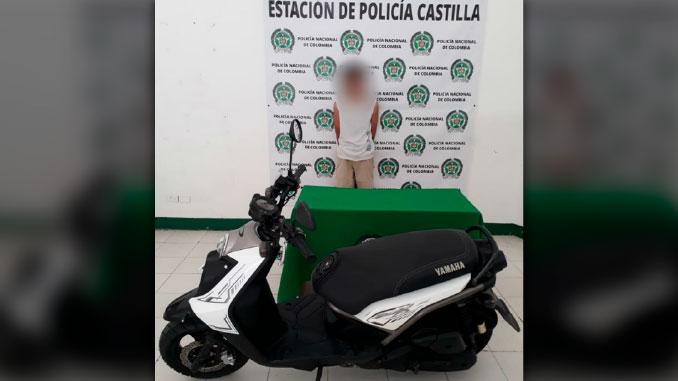 capturado con moto robada en el mes de julio