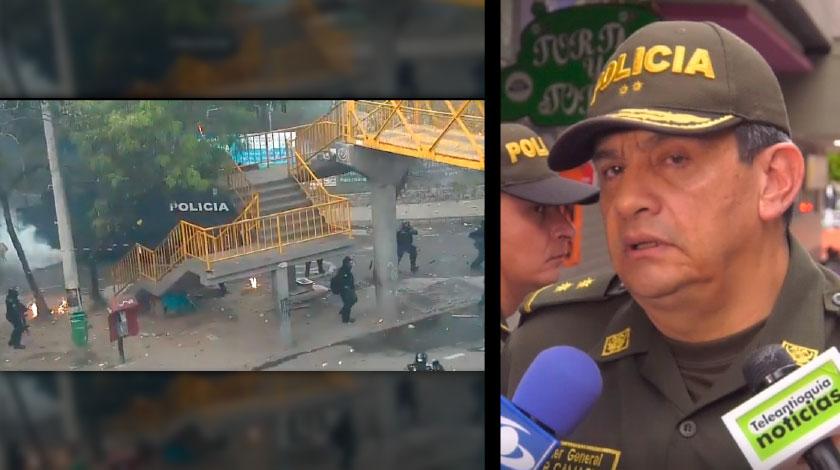 Autoridades entregan balance tras los disturbios que protagonizaron capuchos afuera de la U de A