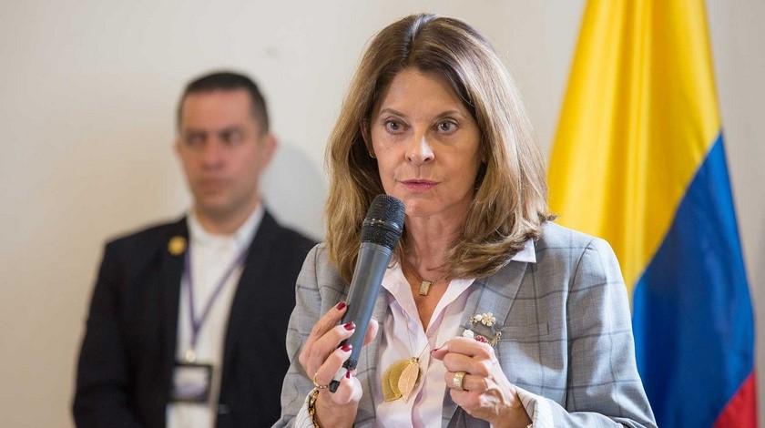 La vicepresidenta Marta Lucia Ramirez
