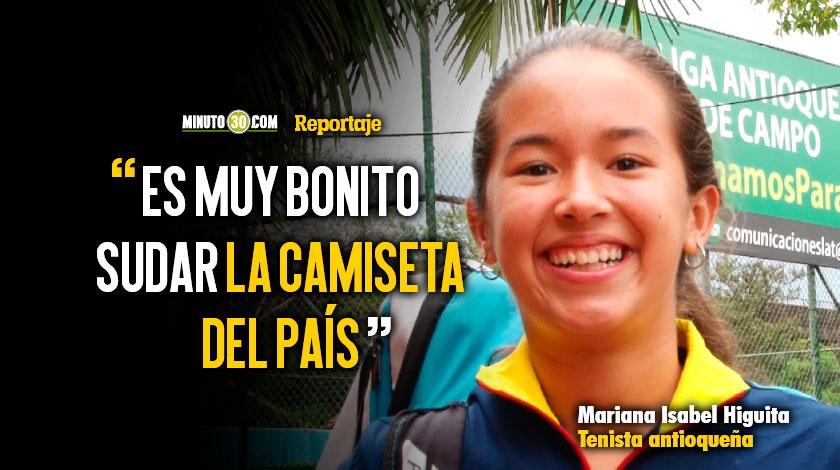 Mariana Isabel Higuita una de las cartas con mas proyeccion en el tenis antioqueno