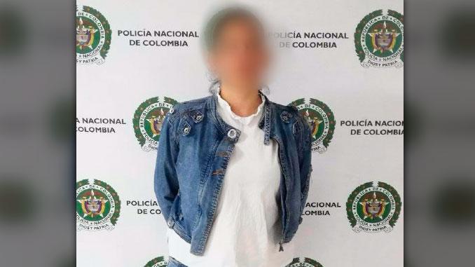 Mujer capturada con antecedentes en Caldas Antioquia