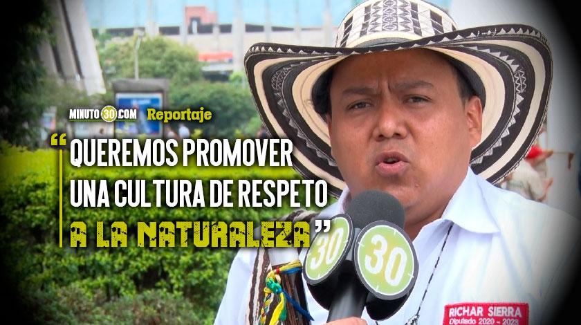Richar Sierra asegura que sera defensor de la madre tierra como diputado de Antioquia