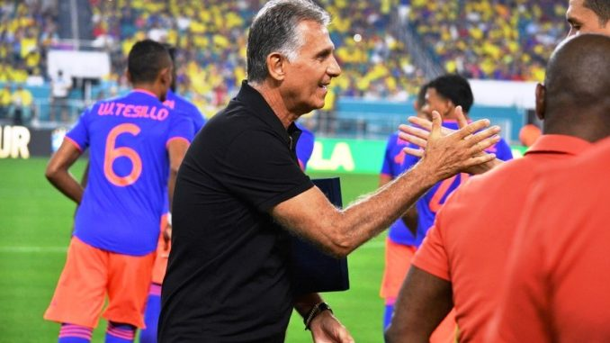 El director técnico de la selección de Colombia, el portugués Carlos Queiroz