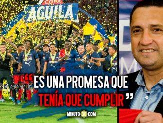 Aldo Bobadilla consiguio con Medellin su primer titulo como entrenador