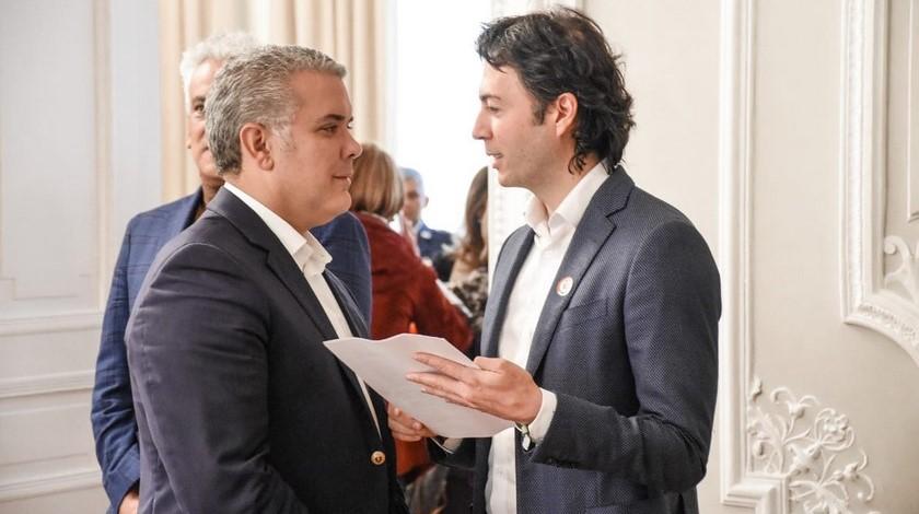 Daniel Quintero e Ivan Duque
