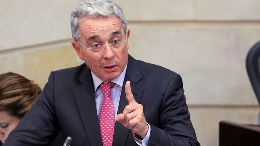 El expresidente de Colombia Alvaro Uribe Velez imagen ilustrativa