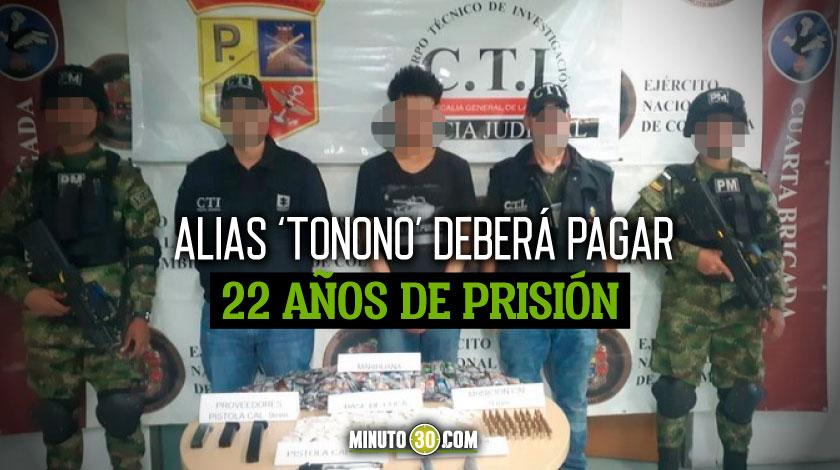 Condenado sicario de estructura criminal por homicidio de un joven que cruzo una de las denominadas fronteras invisibles en Medellin