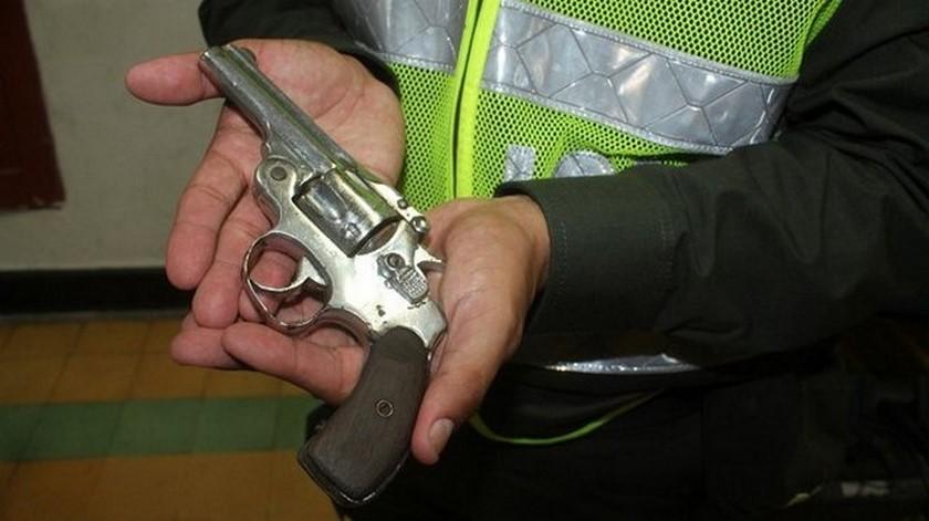 Revolver incautado