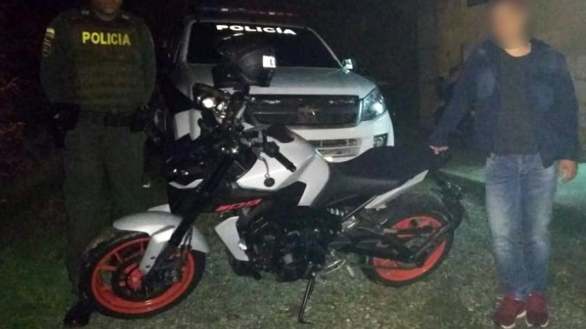 moto robada y recuperada