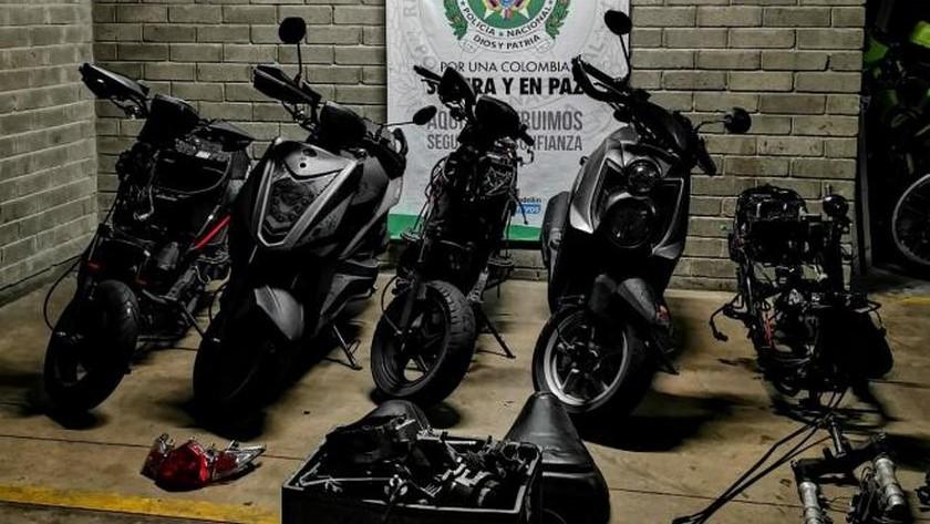 motocicletas y partes halladas