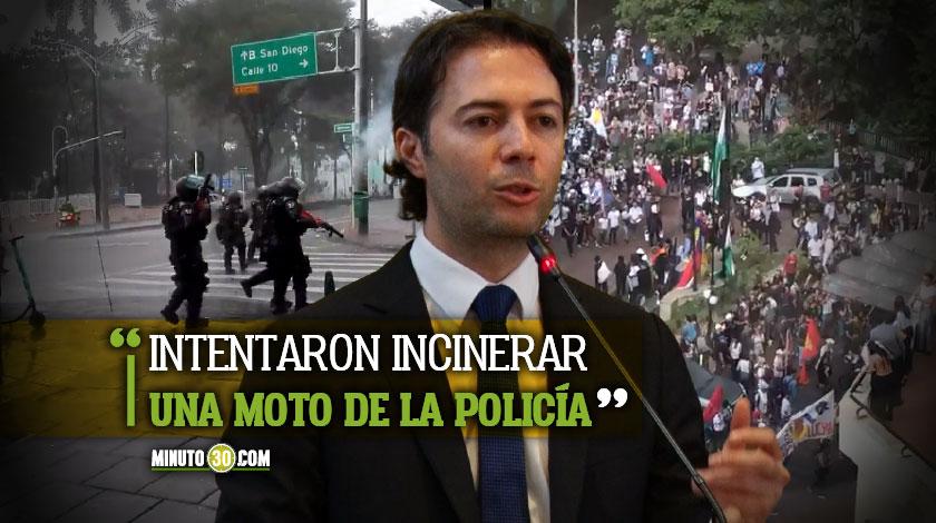 Alcalde de Medellin entrega el balance de las manifestaciones de este 21 de enero