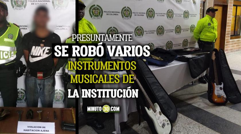Alias El musico fue capturado cuando al parecer intentaba robar nuevamente en una institucion educativa