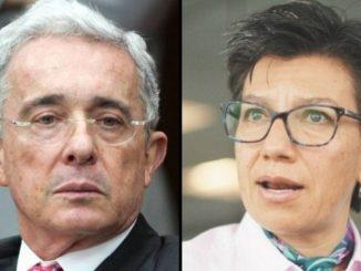 Alvaro Uribe Velez y Claudia Lopez