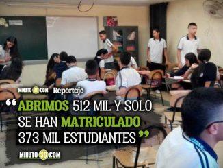 En Antioquia si hay cupos en los colegios oficiales y para mas de 100 mil estudiantes