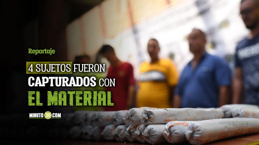 Grupos ilegales iban a utilizar las 500 barras de explosivos incautadas en Zamora para mineria ilegal