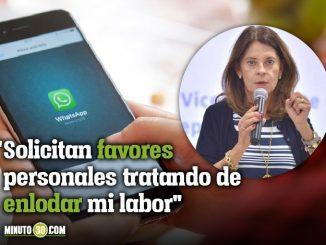 Marta Lucia Ramirez suplantada WhatsApp