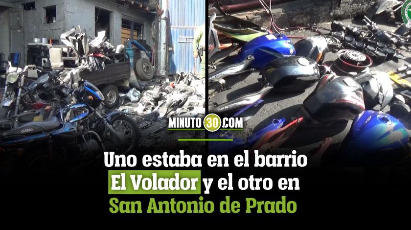 Ubicaron y desmantelaron dos desguazadero de vehiculos en Medellin