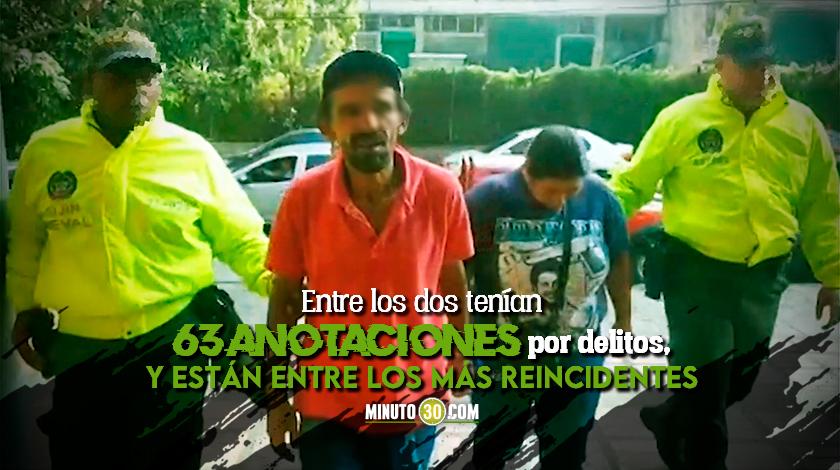 Autoridades cogieron a una pareja de cosquilleros que tenian azotados el centro de Medellin