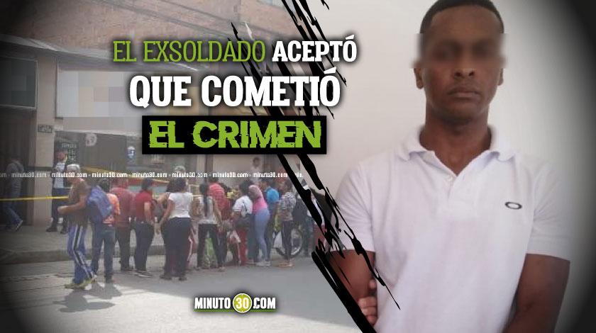 Condenado a 35 anos de prision exsoldado que acepto cargos por feminicidio de su companera sentimental en Caldas Antioquia