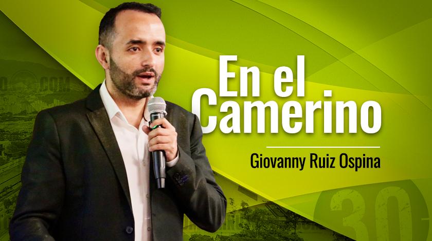 Giovanny Ruiz Ospina En el camerino