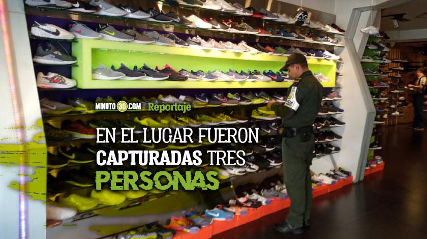 Pura replica Autoridades cogieron mas de 1.500 pares de zapatos falsificados en el Valle de Aburra