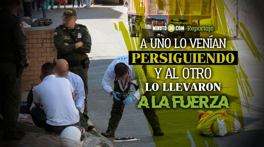 Revelan mas informacion sobre los hombres que fueron asesinados esta manana en Medellin