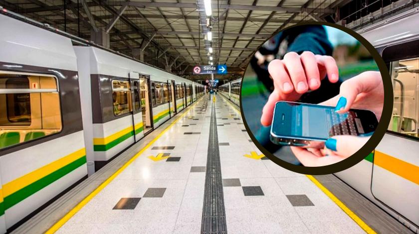 Roban celular con raponazo en el Metro de Medellin