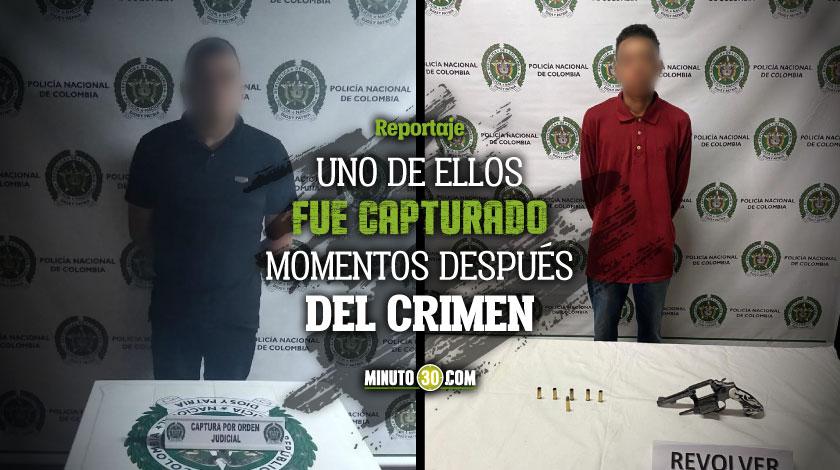 Van cayendo de a poquito Dos sicarios fueron capturados en las ultimas horas en Medellin