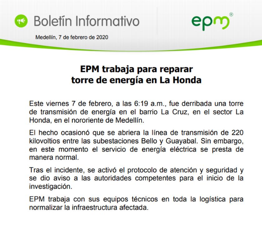 comunicado EPM