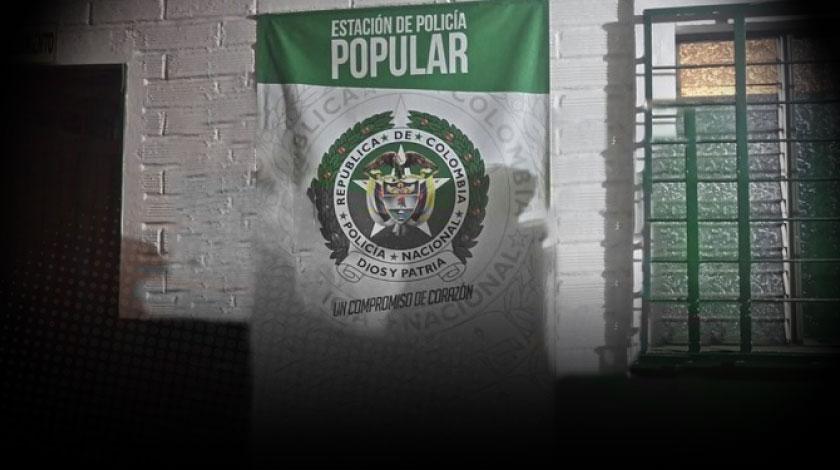 estacion de policia del barrio el popular en medellin