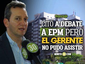 Alfredo Ramos denuncia que EPM no sabe como cumplir algunas propuestas de campana del actual alcalde