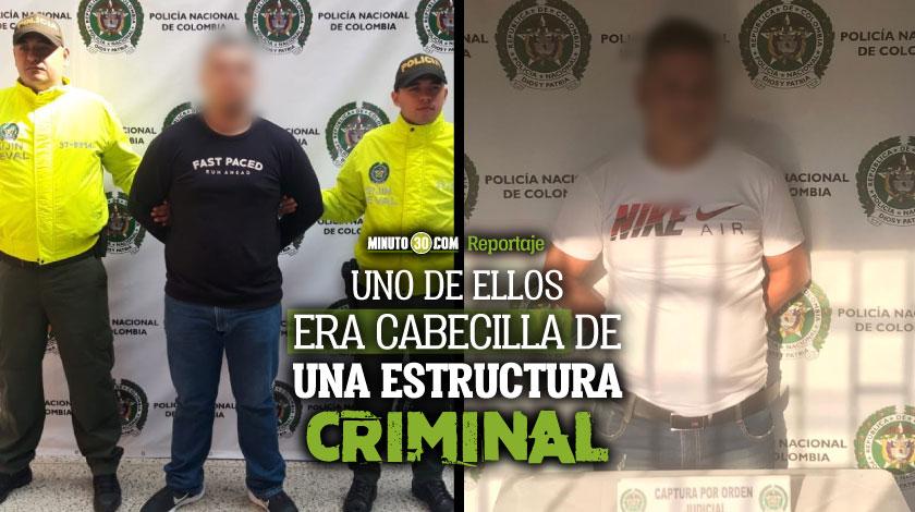 Autoridades capturaron a El Pequeno y a Crosty sujetos que delinquian al nororiente de Medellin y en La Milagrosa