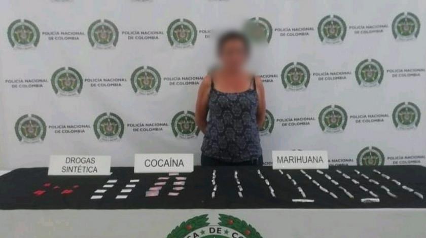 Capturada con droga centro de Medellin