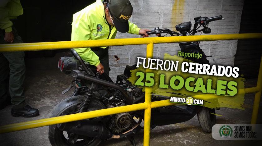 En la Bayadera descubrieron un desguazadero de motos e incautaron 1.200 partes de vehiculos hurtados